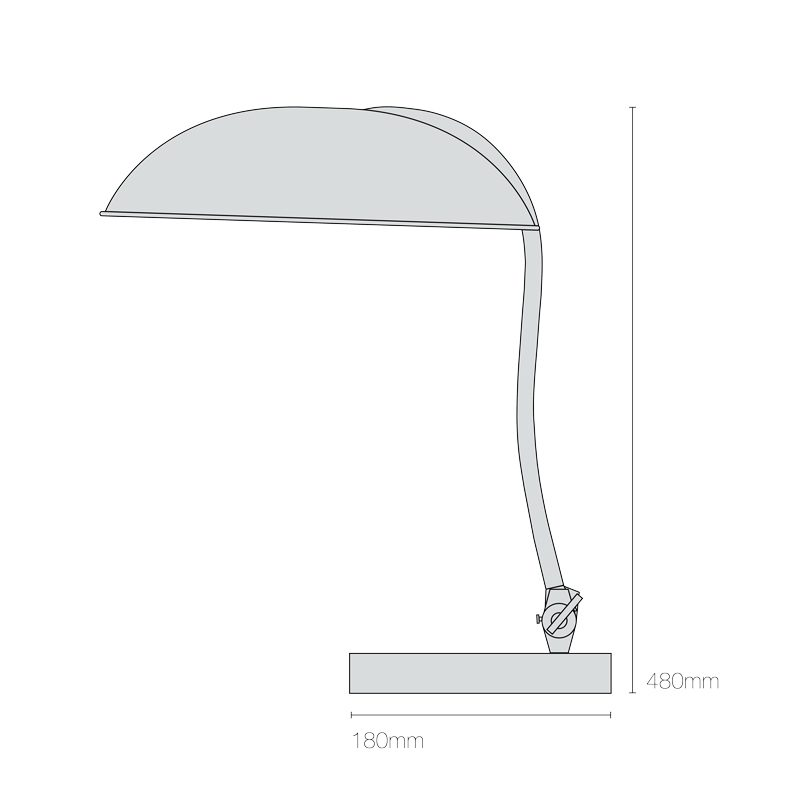 Original Btc Hugo Table Lamp Line Drawing