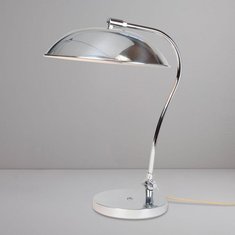 Original Btc Hugo Table Lamp Polished Aluminium