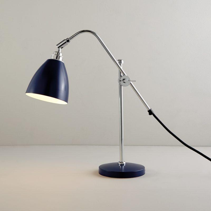 Original Btc Task Small Table Lamp Blue On