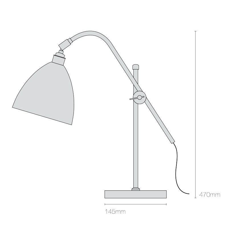 Original Btc Task Small Table Lamp Line Drawing