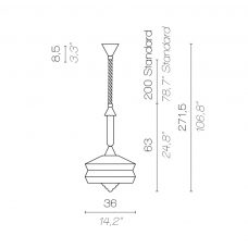Contardi Calypso Antigua Outdoor Pendant Light Line Drawing