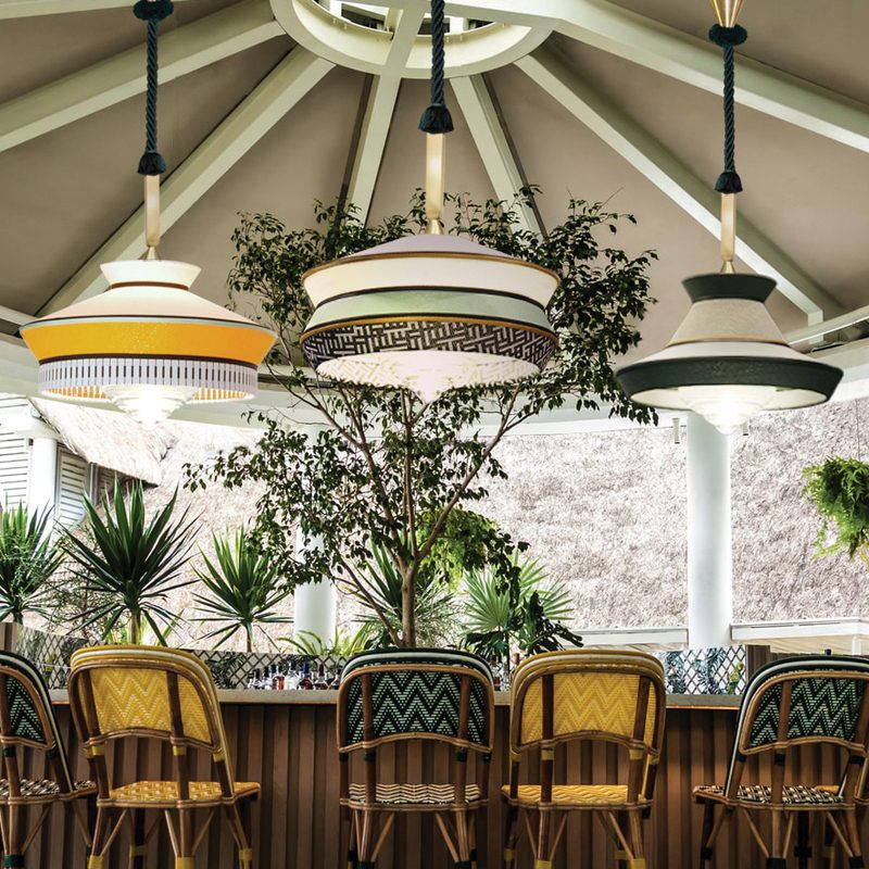 Contardi Calypso Antigua Xl Outdoor Pendant Light Mint B