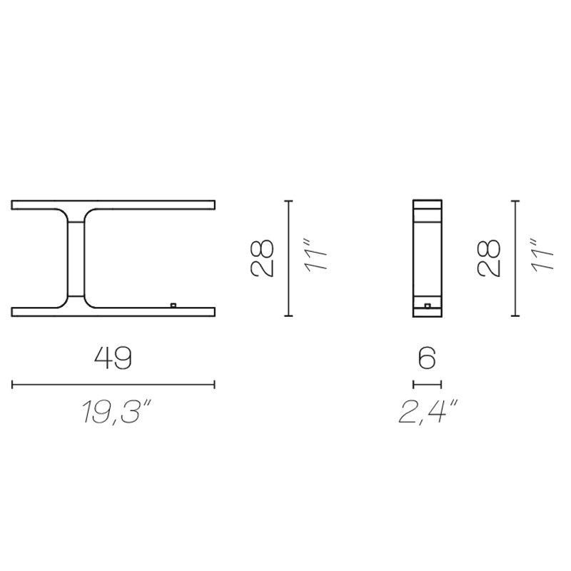 Contardi Beam Table Lamp Line Drawing
