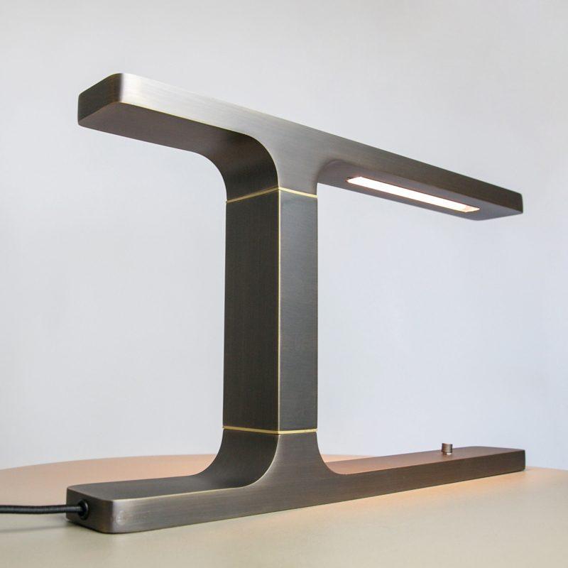 Contardi Beam Table Lamp Satin Bronze B