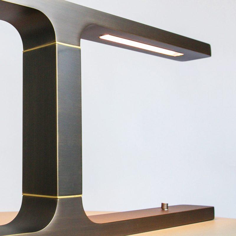 Contardi Beam Table Lamp Satin Bronze E