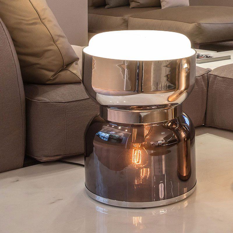 Contardi Clessidra Kronos Table Lamp Satin Chrome C