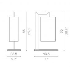 Contardi Coco Mega Table Lamp Line Drawing