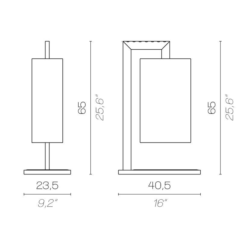 Contardi Coco Mega Table Lamp Line Drawing