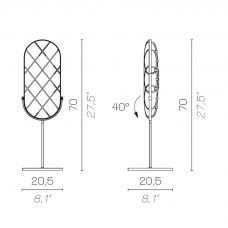 Contardi Crystal Large Table Lamp Line Drawing