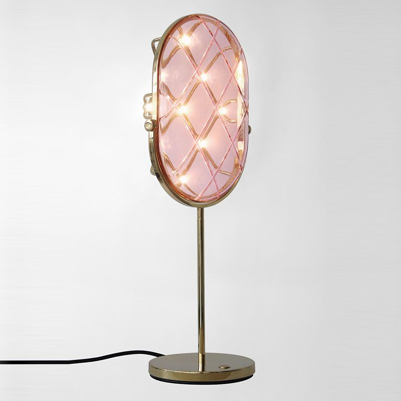 Contardi Crystal Small Table Lamp Pink C