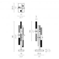 Contardi Mikado Table Lamp Line Drawing