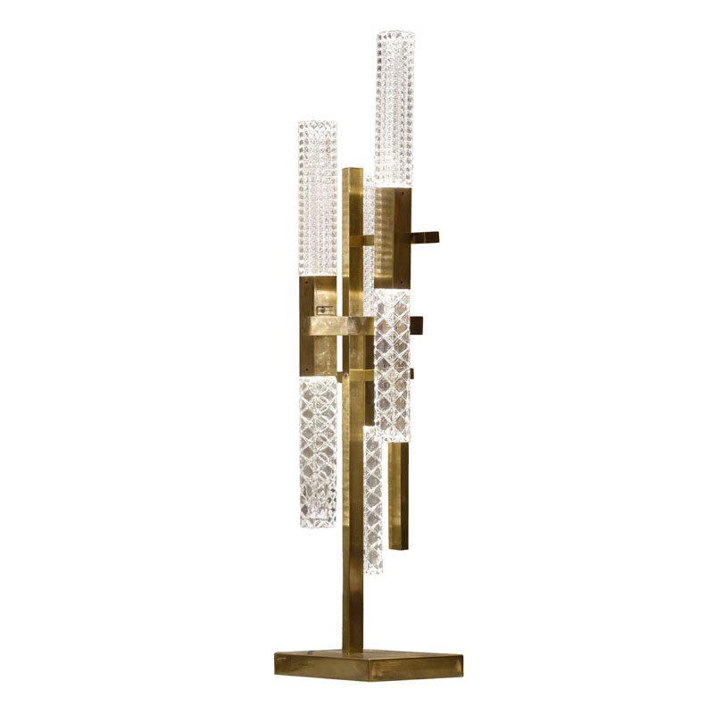 Contardi Mikado Table Lamp Satin Bronze Prismatic