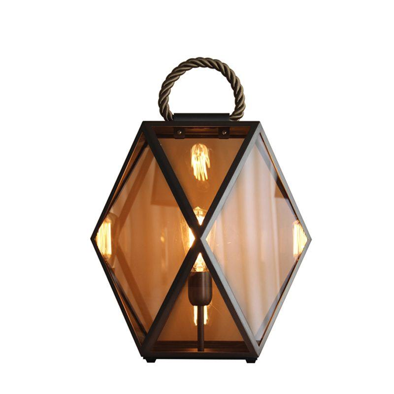 Contardi Muse Medium Lantern Table Lamp Bronze