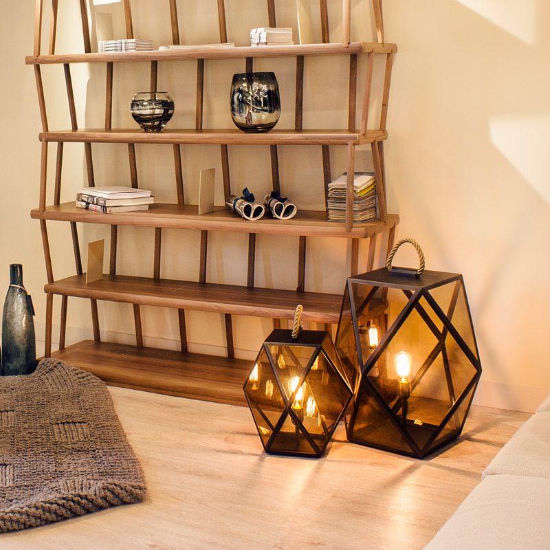 Contardi Muse Small Lantern Table Lamp Bronze B