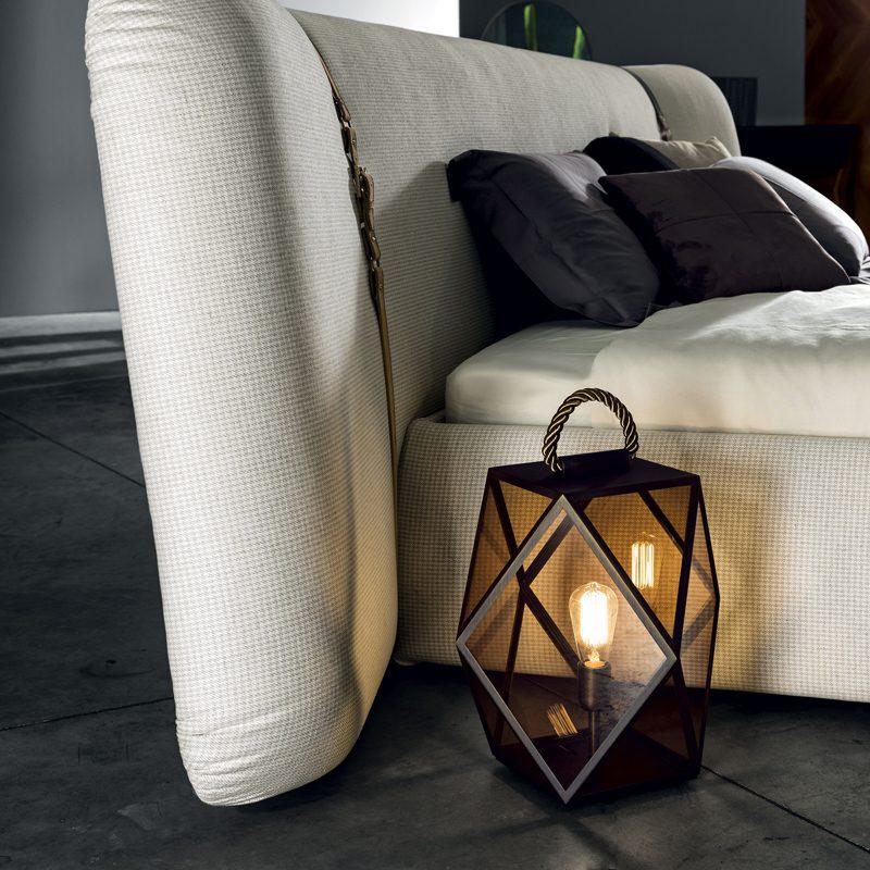 Contardi Muse Small Lantern Table Lamp Bronze D