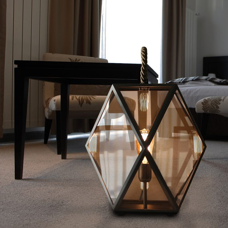 Contardi Muse Small Lantern Table Lamp Bronze F