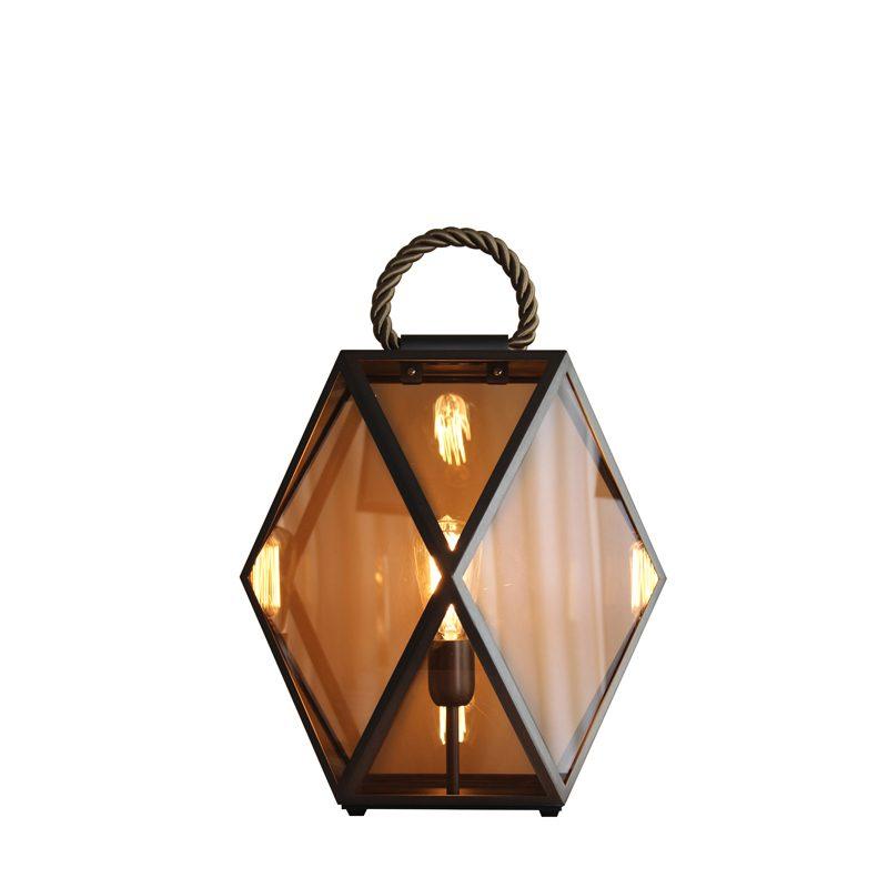 Contardi Muse Small Lantern Table Lamp Bronze