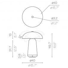 Contardi Ongo Xl Table Lamp Line Drawing