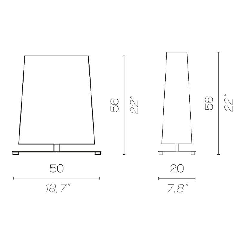 Contardi Quadra Table Lamp Line Drawing