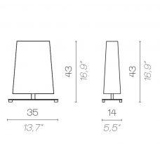 Contardi Rettangola Small Table Lamp Line Drawing