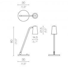 Contardi Up Xl Desk Lamp Line Drawing