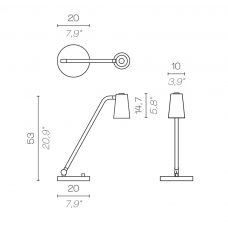 Contardi Up Desk Lamp Line Drawing