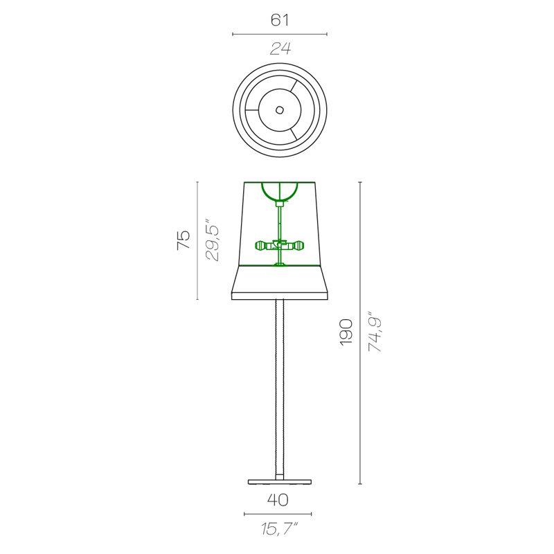 Contardi Audrey Floor Lamp Line Drawing