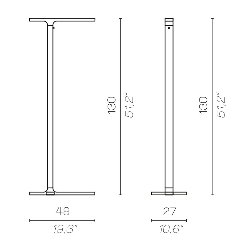Contardi Beam Floor Lamp Line Drawing