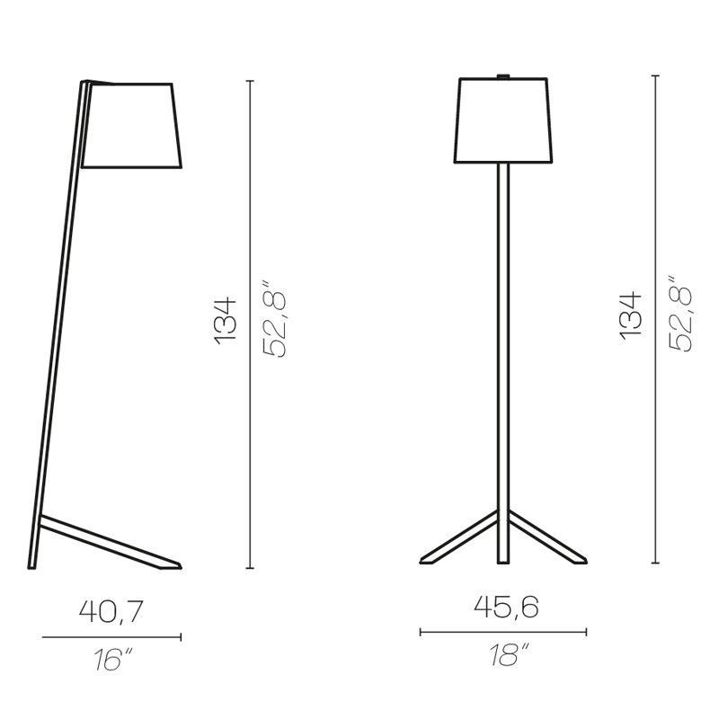 Contardi Couture Floor Lamp Line Drawing