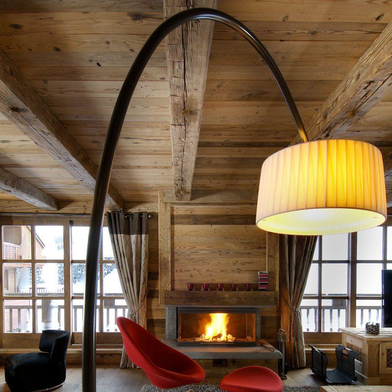 Contardi Divina Arco Floor Lamp Satin Bronze B