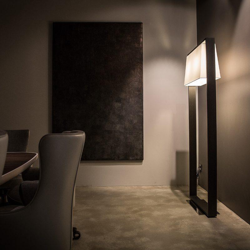 Contardi Frame Floor Lamp Dark Oak C