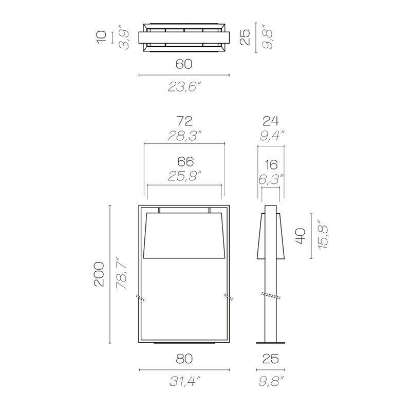 Contardi Frame Floor Lamp Line Drawing