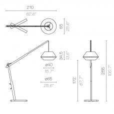 Contardi Oops Floor Lamp Line Drawing