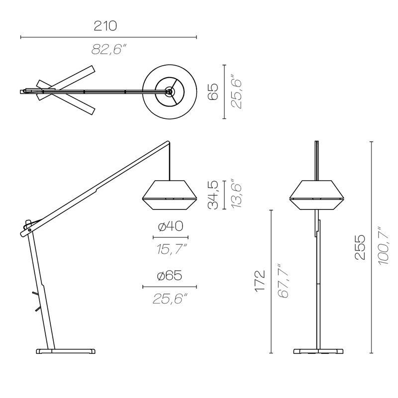 Contardi Oops Floor Lamp Line Drawing