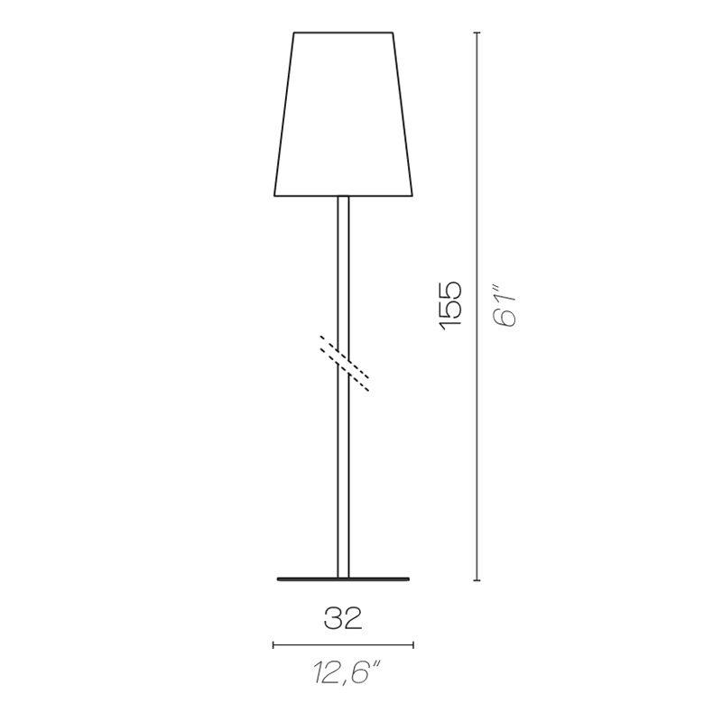 Contardi Quadra Floor Lamp Line Drawing