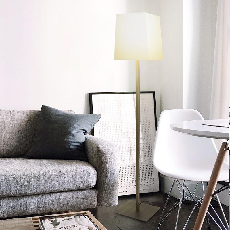 Contardi Quadra Floor Lamp Satin Bronze B