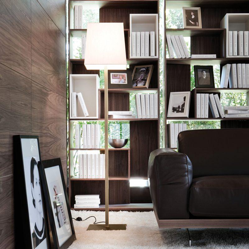 Contardi Quadra Floor Lamp Satin Bronze D