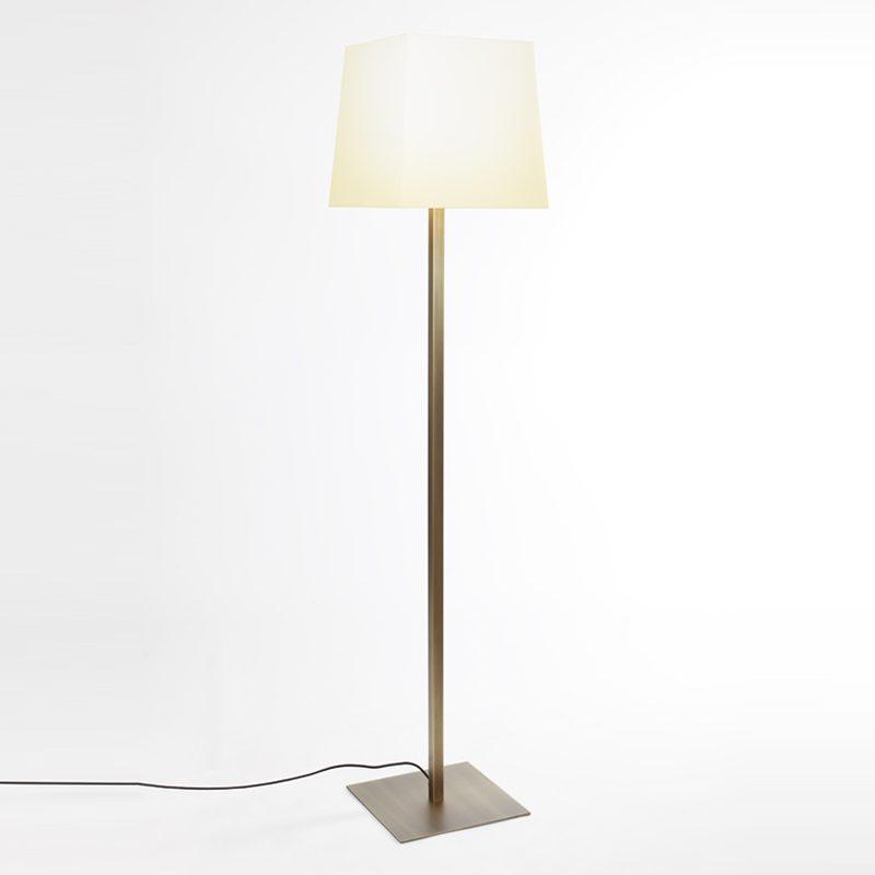 Contardi Quadra Floor Lamp Satin Bronze