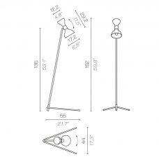 Contardi Tata Floor Lamp Line Drawing