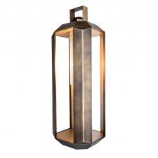 Contardi Cube Large Lantern Lamp Satin Bronze