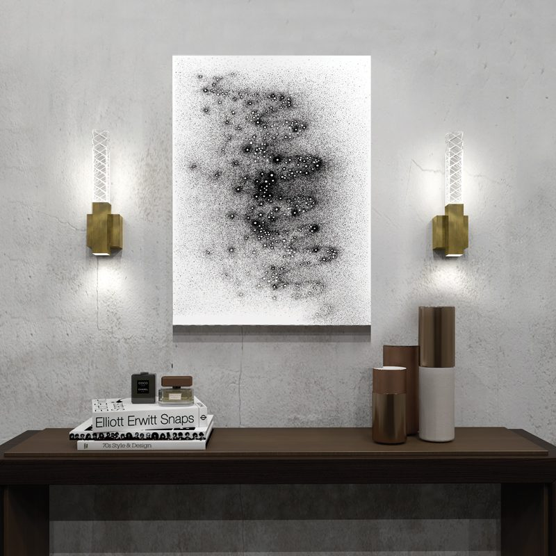 Contardi Mikado Solo Wall Light Satin Bronze C