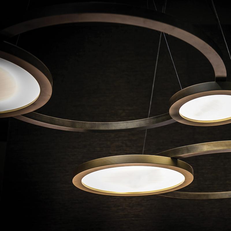 Contardi Eclisse Pendant Light Satin Bronze C