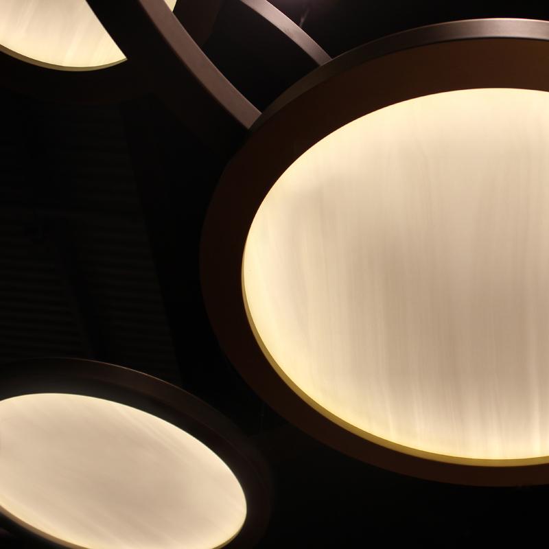 Contardi Eclisse Pendant Light Satin Bronze D