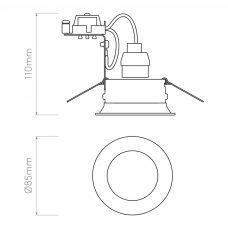 Astro Minima Round Adjustable Downlight Line Drawing