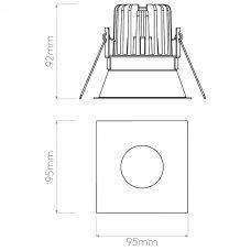 Astro Minima Square Led Downlight Line Drawing