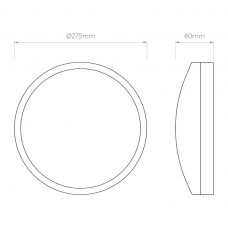 Astro Arta Led Ceiling Light Line Drawing