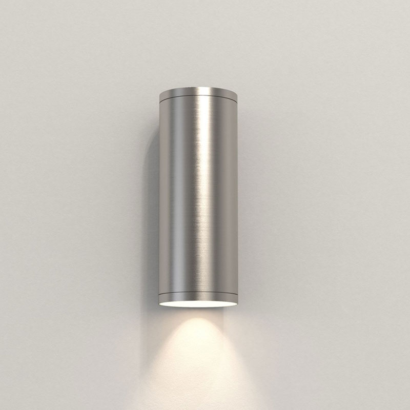 Astro Ava 200 Coastal Wall Light Brushed Stainless Steel B
