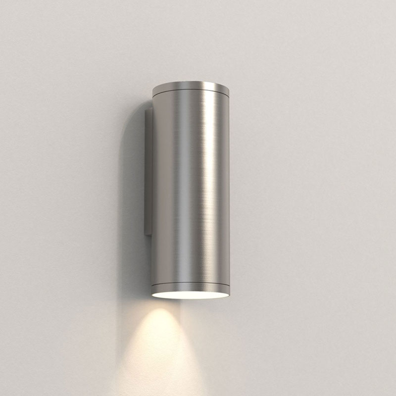 Astro Ava 200 Coastal Wall Light Brushed Stainless Steel