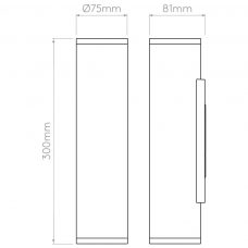 Astro Ava 300 Wall Light Line Drawing