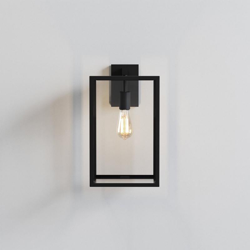 Astro Box Lantern 450 Wall Light Black B